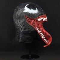 Crazy Venom Latex Mask Cosplay Black Spider Man Edward Brock 4