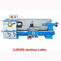 Shipping by sea CJM250 desktop metal processing machine home small machine general industrial lathe 220V/380V speed 80 1600R/min