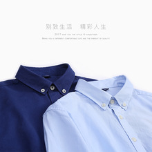 Plus Size Business Dress Shirt Pure Cotton Casual Men's Solid color Camisa 2017 New Fashion Men's Long Sleeve Lapel Clothing