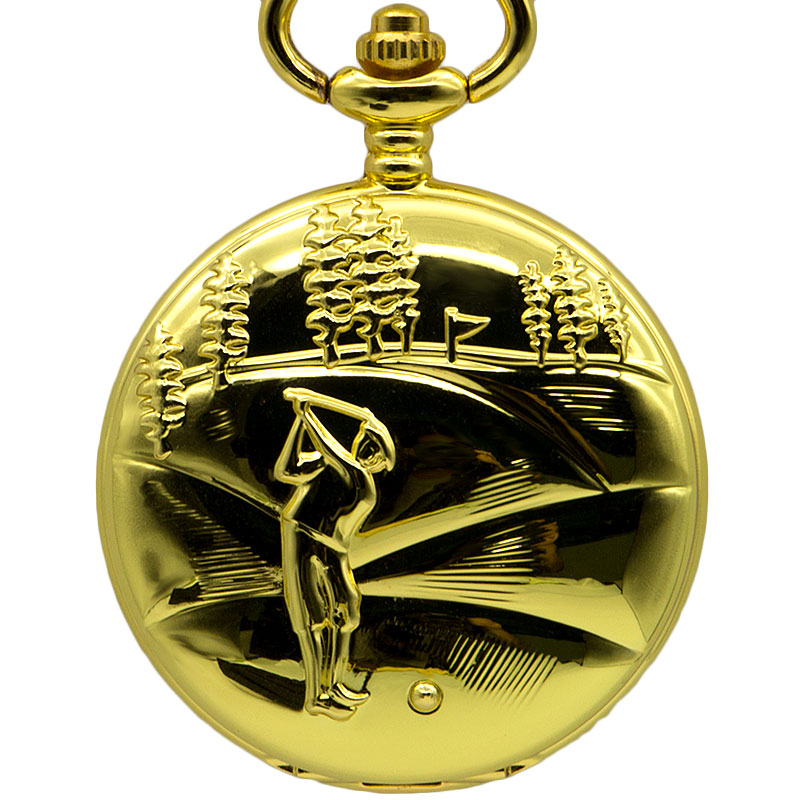 Whole Gold Pocket Watch Vintage Classic Elegant Mechanical Gold Case Pocket Fob Watch Necklace Carving Fashion Casual Fob Watch
