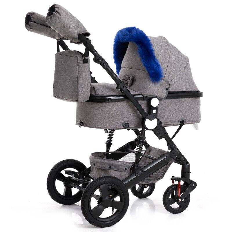 2019 bébé poussette 2 en 1 poussette bidirectionnelle Buggy léger landau qualité amortisseur bébé chariot