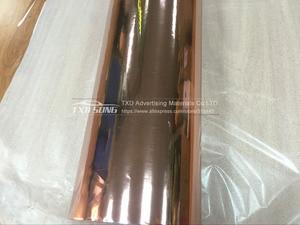 Image 4 - Bonne qualité 1.52x20 m/Roll Étanche UV Protégé rose or Miroir chrome Vinyle Wrap Fiche Film autocollant Decal Air bubbules