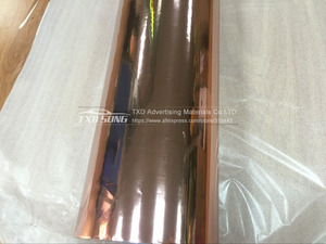 Image 4 - Gute qualität 1,52x20 mt/Rolle Wasserdicht UV Geschützt rose gold Spiegel Chrom vinylverpackung Blatt Film Auto aufkleber Aufkleber Air bubbules