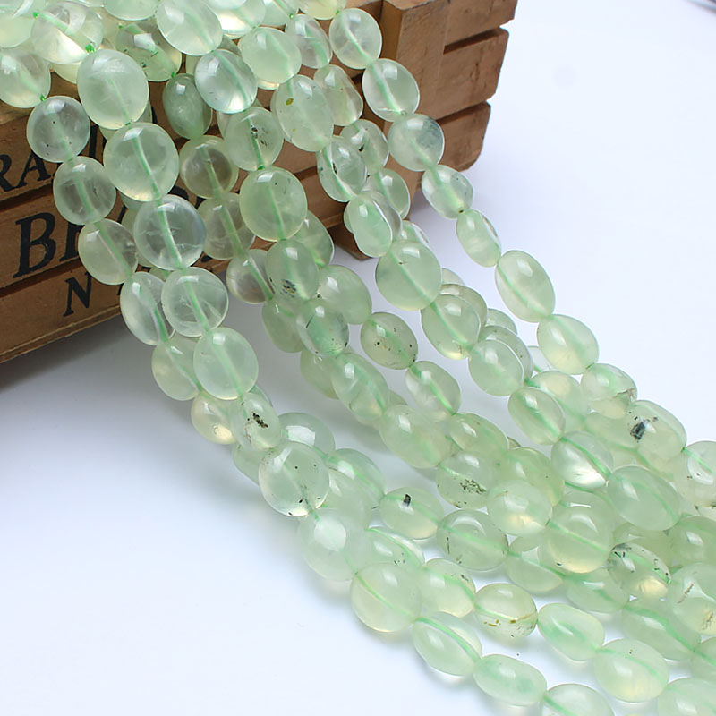 Natural Stone Beads 8-10mm Irregular Prehnite Stone Beads For Jewelry Making Bracelet Necklace 15inches