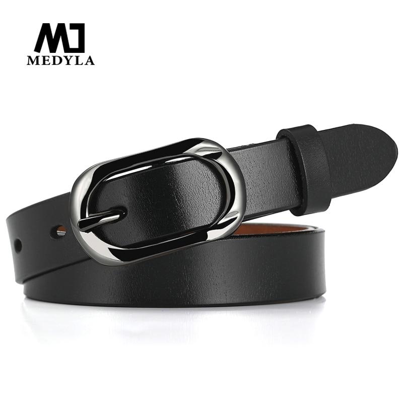 MEDYLA new genuine leather   Belts   for women Fashionable Cowhide   Belt   Female vintage leather   belt   brand designer strap