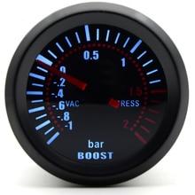 2 ''52 мм Универсальный дымовой объектив турбо Boost Калибр бар Boost датчик светодиода метр Автомобильный датчик