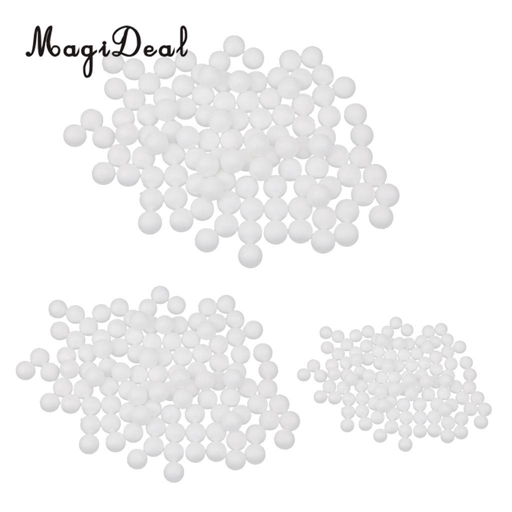 300pcs White Styrofoam Foam Balls for Kid Modelling Craft DIY 10mm 20mm 27mm