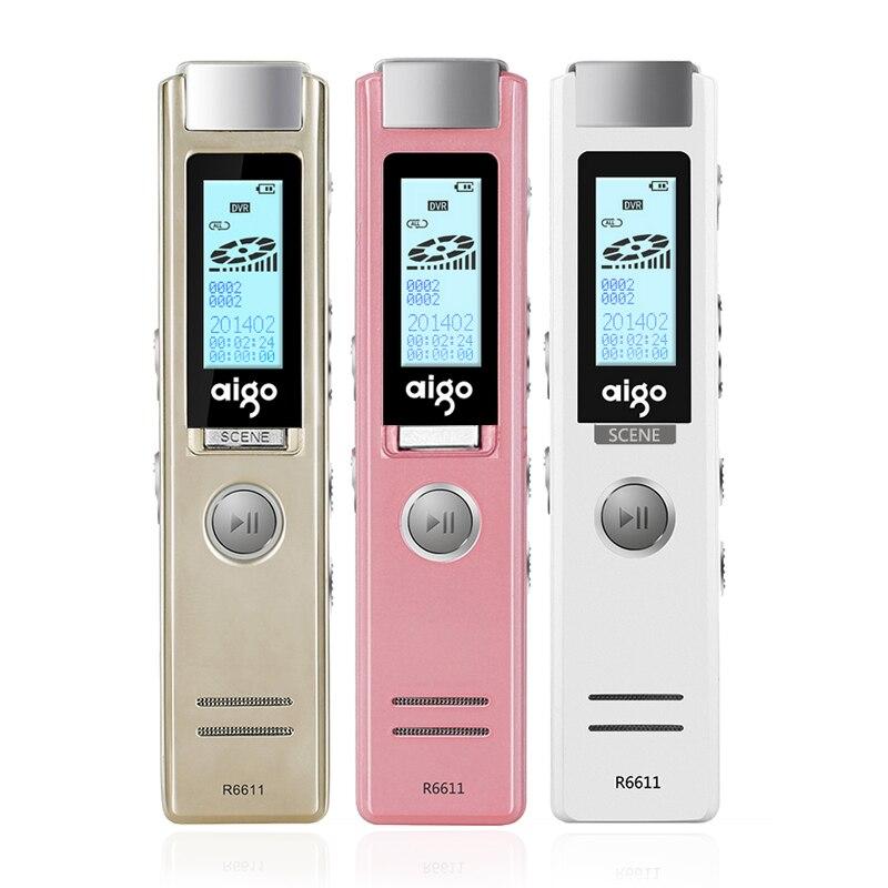 Yescool R6611 stylo enregistreur vocal numérique professionnel caché vocal activé Dictaphone lecteur MP3 enregistrement réunion lecture