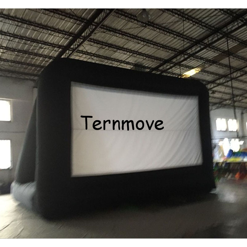 Removable <font><b>Inflatable</b></font> Screen <font><b>billboard</b></font>,advertising screen outdoor movie rear projection <font><b>inflatable</b></font> screen with free blower image