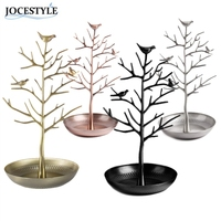 New Elegant Vintage Bird Tree Stand Jewelry Earring Necklace Ring Show Rack Holder Display Jewelry Holder
