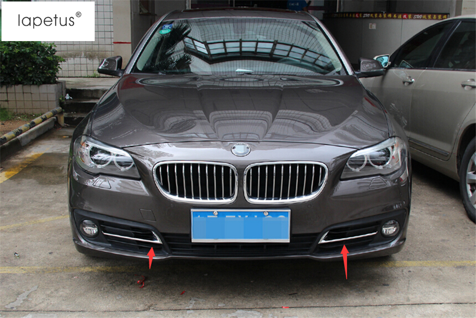 55d50ec4db29 Accessories For BMW 5 Series 520i 525i 528i F10 F18 2014 2015 2016 Front  Fog Light Lamp Eyelid Eyebrow Frame Cover Kit Trim 2Pcs-in Interior  Mouldings from ...