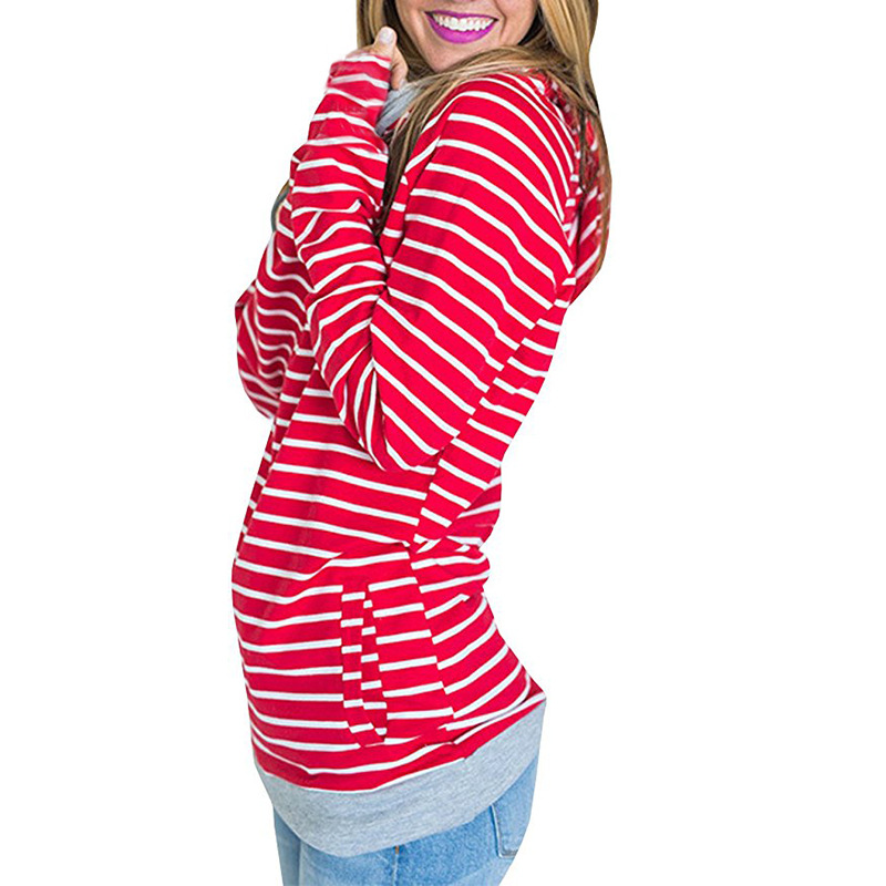 0ac97cc9d1e plus size Hoodies Sweatshirts Women Pullover Hoodie Female Striped Double  Hood Hooded Sweatshirt Autumn Coat Warm Hoody oversize-in Hoodies    Sweatshirts ...