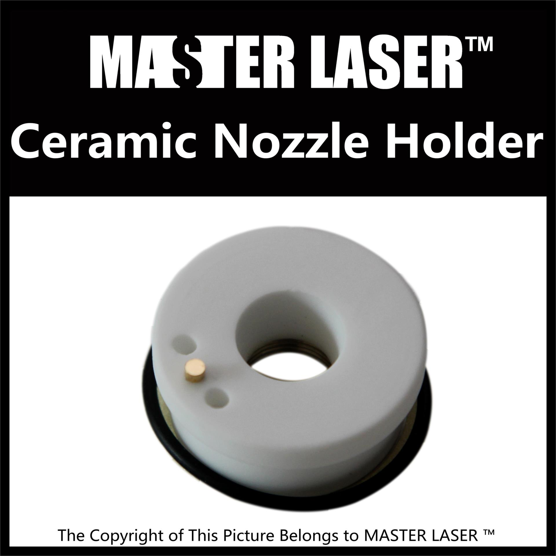 Master Laser Precitec Ceramic Laser Nozzle Holder for High Power Lasermech Fiber Cutting Head Machine KT B2 CON P0571-1051-00001  laser precitec laser ceramic kt b2 con p0571 1051 00001 for precitec laser cutting head 32mm 28 5mm free shipping