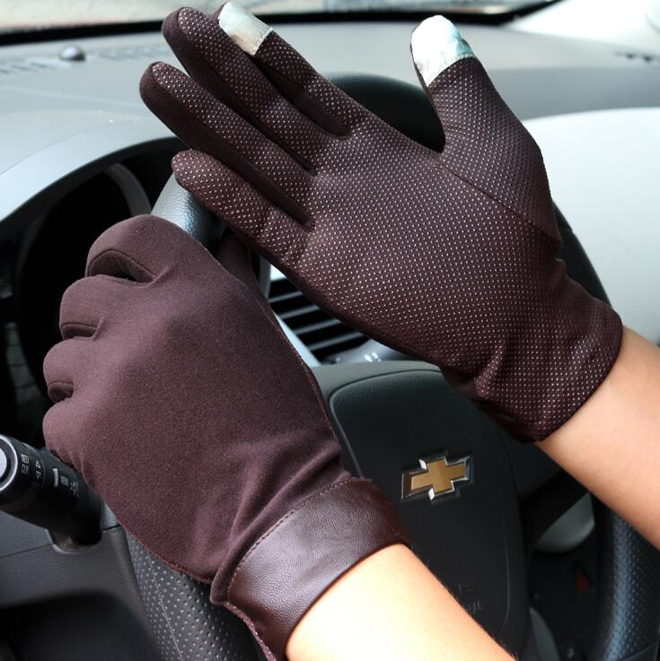 Men's Spring And Summer Driving Gloves Summer Sunscreen Thin Touch Screen Gloves Male Slip-proof Sports Glove R209