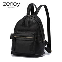 Soft Luxury Natural Leather Women Backpacks Lady Elegant Daily Bags Summer High Capacity Black Packs For