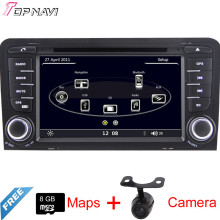 "7"" Two Din Wince Car GPS For A3 2003 2004 2005 2006 2007 2008 2009 2010 2011 2012 2013 With DVD Radio Stereo Map Bluetooth"