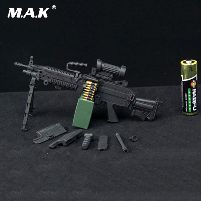 1/6 Scale US military modern equipment M249 Black Weapon Model Toy Fit 12 Soldier Action Figure Dolls Accessories Collections 1 6 sovereign military knights of malta ancient medieval soldier action figure model collections