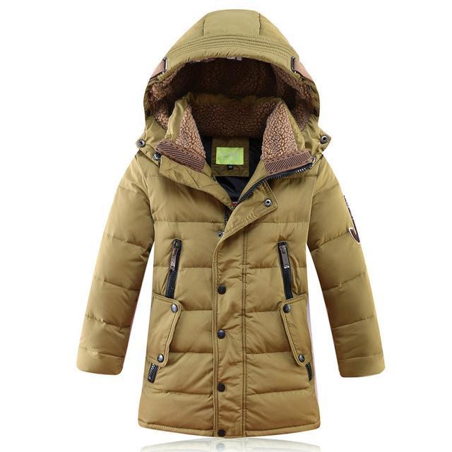 -30 Degree Children's Winter Jackets Duck Down Padded Children Clothing  New Big Boys Warm Winter Down Coat Thickening Outerwear