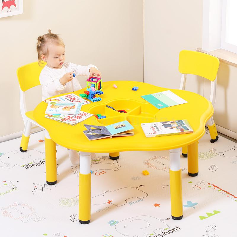 Kindergarten Tables, Environment-friendly Plastic Children's Tables, Chairs, Sets Of Building Blocks, Toys, Tables, Babies, Mult