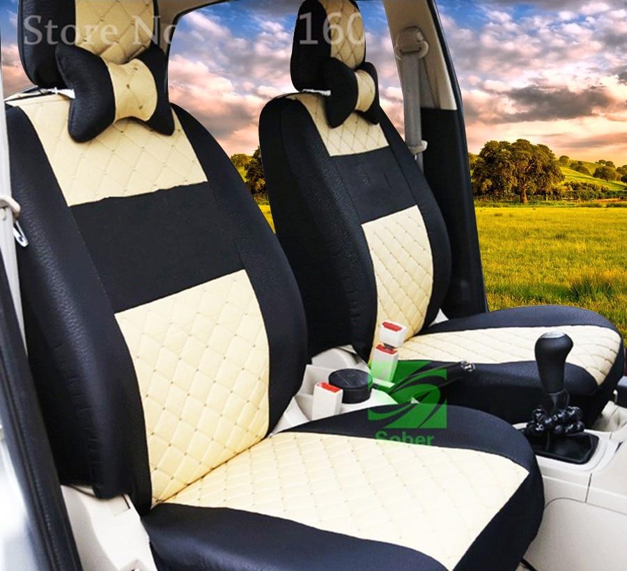 Acheter Seulement deux de soie avant de voiture housse de siège Pour Suzuki Smart Chevrolet Skoda Volvo Mazda Lexus automobiles accessoires de fauteuil style de seat cover for suzuki fiable fournisseurs