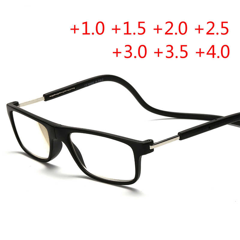 76957cf5a624 Fashion Magnetic Glasses can hung around the neck Front magnet Connect Reading  Glasses Brand Design Diopter