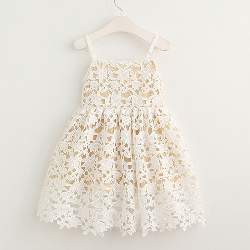 Princess Strap Dress for Girls Clothes high quality lace Costumes for Children Clothing 2017 Brand Girls Dresses Kids white princess dress costumes for kids clothes 2017 brand summer girls dresses for party wedding lace high collar children dress