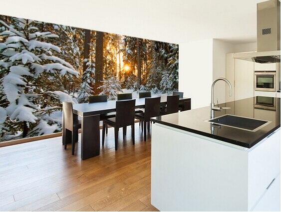 Custom natural scenery wallpaper,Winter Wonderland,3D modern photo on