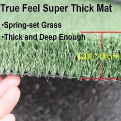 Гольф толстые Driviing зазубрин коврик 2x1 м искусственный газон моделирование ковыль