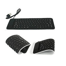 85 Tombol Keyboard Silikon Antarmuka USB Kabel Keyboard Fleksibel Teclado PC Desktop Laptop Ukuran Kecil Hitam Keyboard Dapat Dilipat A88(China)
