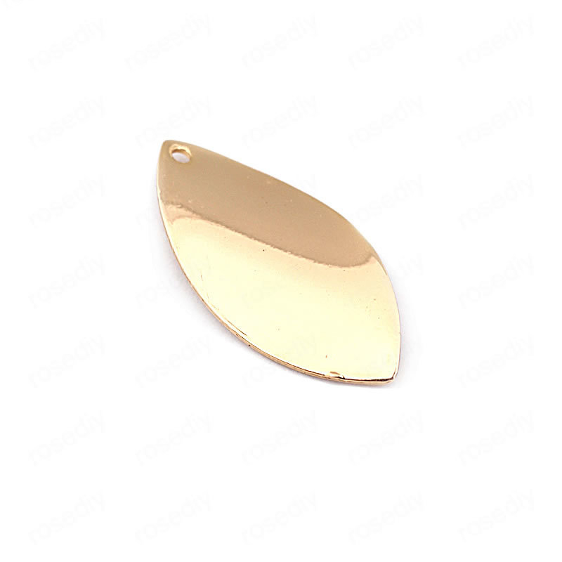 (33646)20PCS 23*11MM 24K Gold Color Brass Twisted Willow Leaf Shape Charms High Quality Diy Jewelry Findings Accessories