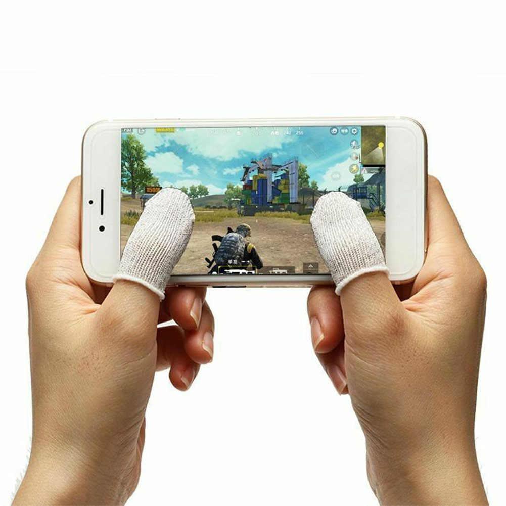1 par móvil sensible Ultra fina lavable Mini respirable sólido cunas dedo puesto ACCESORIOS Herramienta Sweatproof controlador de juego