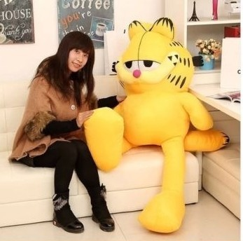 NEW STuffed plush toy lovely huge Garfield doll soft Toy birthday gift about 150cm fancytrader new style giant plush stuffed kids toys lovely rubber duck 39 100cm yellow rubber duck free shipping ft90122