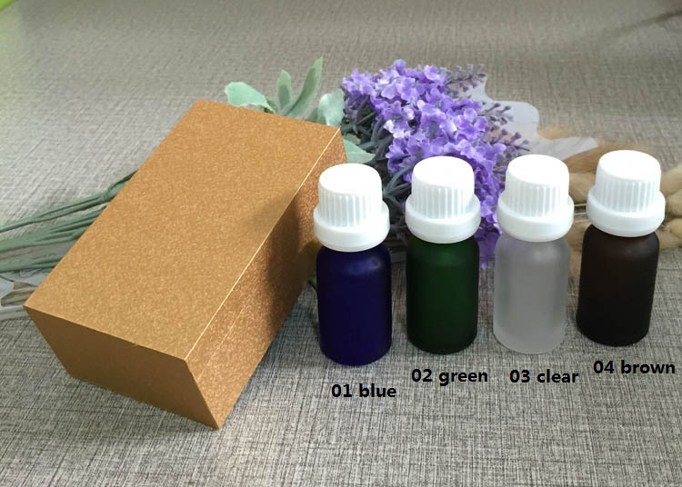 4pcs 10ml High-grade frosted essential oil bottle with wooden box packing white cap glass bottle,lotion cosmetics powder jar cosmetics 50g bottle chinese herb ligusticum chuanxiong extract essential base oil organic cold pressed