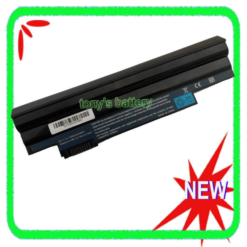 6Cell Laptop Battery for Acer Aspire One E100 P0VE6 POVE6 PAV70 NAV70 ZE6 ZE7 Happy series laptop motherboard for aspire one 522 ao522 p0ve6 la 7072p mbsfh02001 amd c60 ddr3