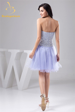 Bealegantom Sexy Mini Crystal A-Line Homecoming Dresses With Beading Sequin Tulle Prom Party Dresses Graduation Dress BH1-4