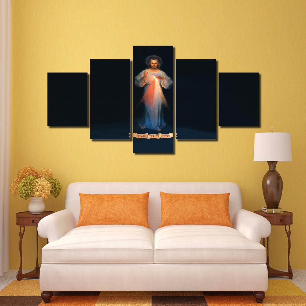 5 Pieces/set Divine Mercy Modern Wall Art For Wall Decor Home ...