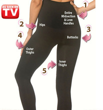 Sottile shaper Delle Donne di Legging a vita Alta Senza Soluzione di Continuità Shaper Slim Leggings più il formato 3XL