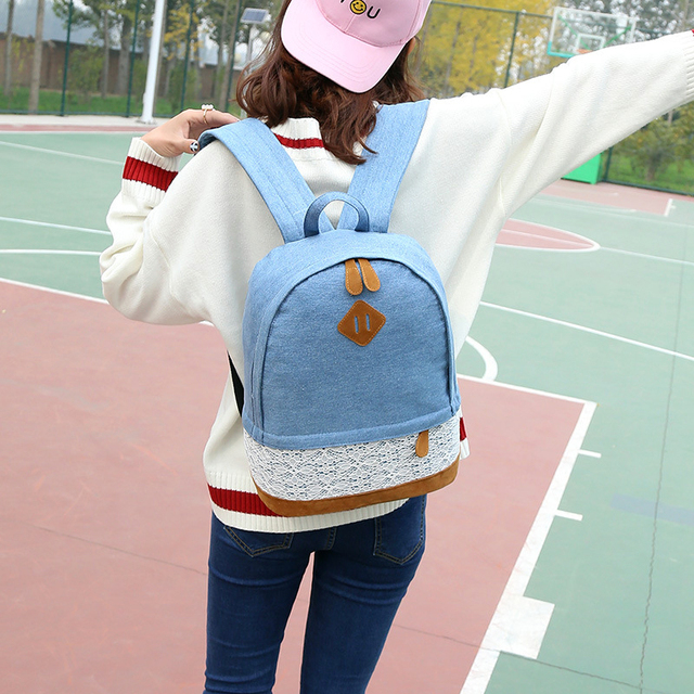 5244c63800e4 2018 Fashion Lace Women Backpack Teenager Girl Student Travel Bag Backpacks  Female Mochila Bagpack Pack Design