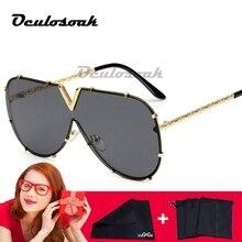 Arrival V Oversize Sunglasses UV400 Women Brand Designer Men Luxury Mirror Coating Sun Glasses Female стоимость