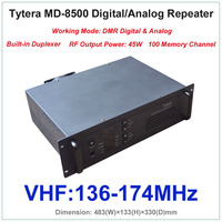 Tytera TYT md 8500 УКВ 136 174 мГц DMR цифровой и аналоговый Профессиональный Двухканальные рации ретранслятора с двусторонней печати (rf Выход мощность
