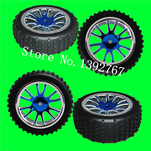 2Pcs HSP METEOR Parts 85024N Wheel Complete(85005+85023) Remote Control Car For 1/16 Nitro Power Buggy RC Car 94285