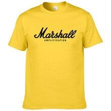 Лидер продаж Лето хлопок Marshall футболка для мужчин короткий рукав хип хоп Уличная для фанатов хипстер XS-2XL#220