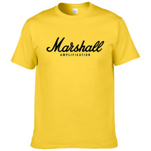 2017 hot sale summer 100% cotton Marshall t shirt men short sleeves te