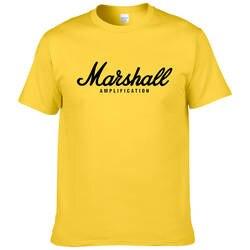 2017 Лидер продаж Лето 100% хлопок Маршалл футболка для мужчин рубашка с короткими рукавами хип хоп Уличная Для вентиляторы hipster XS-2XL #220