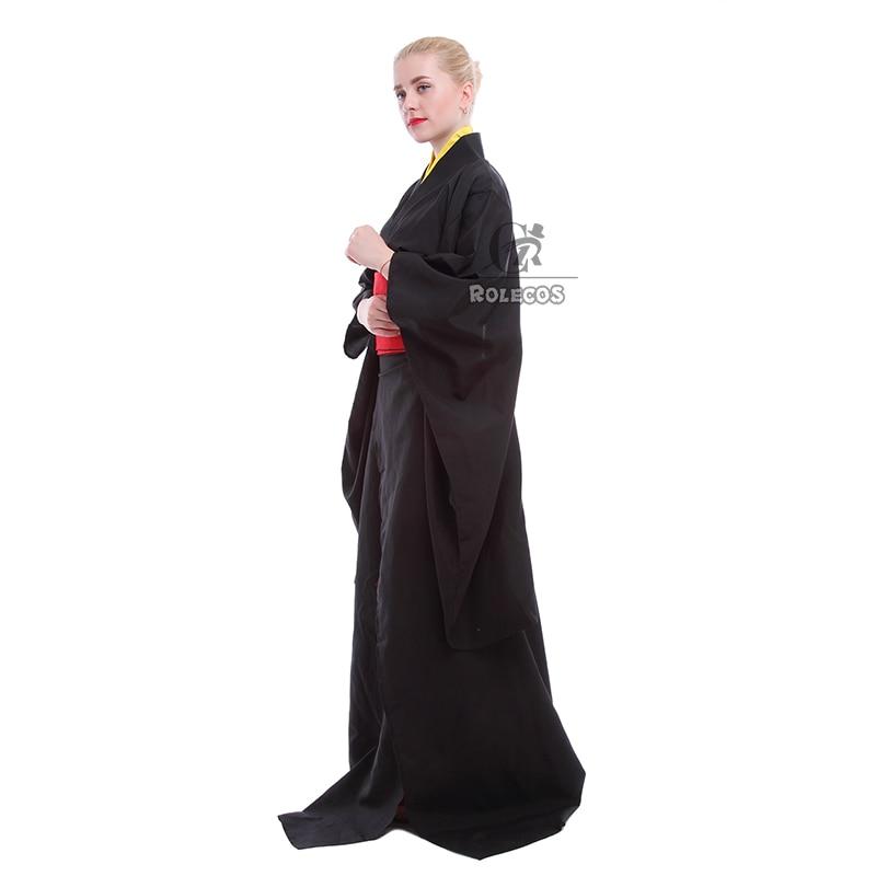 Rolecos Japanski Kimono Žene Tradicionalna crna Yukata Cosplay - Nacionalna odjeća - Foto 3