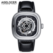 Mechanical Men's Watches AGELOCER Brand Men Sports Watch aaa Leather Wristwatch 50M Diver Watch Relogio Masculino