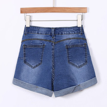 feitong jeans woman Low Waisted Washed Ripped Hole Short Mini Jeans Denim Pants Shorts ripped jeans for women gloria jeans #A35