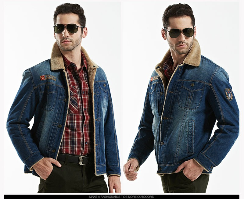 M~4XL New Retro Warm Denim Jackets Mens Jeans Coats Winter Jackets Brand AFS JEEP Thicken Denim Coat Men Outwear Male Asian Size (25)