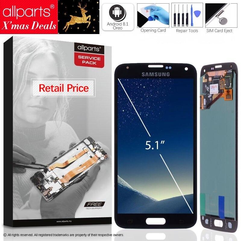 5.1'' Оригинальный тачскрин дисплей экран для SAMSUNG Galaxy S5 сенсорный дисплей Оригинал LCD с тачскрином в рамке замена запчасти i9600 G900 G900F G900M G900H ...