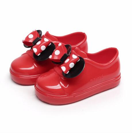 Mini Melissa New Mickey Bowknot Casual Girl Single Shoes Candy Fruit Jelly Shoes Waterproof Jacket Sandals Shoe